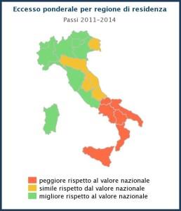 obesità per regione